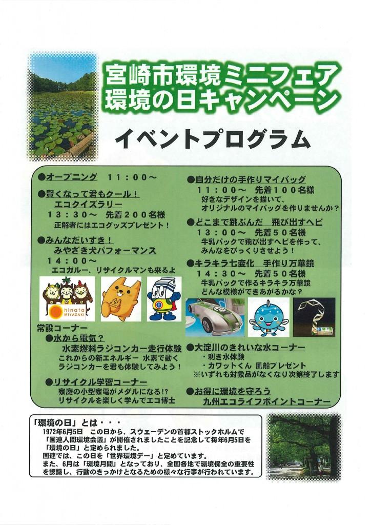 宮崎市環境ミニフェア(裏)2018.6.2